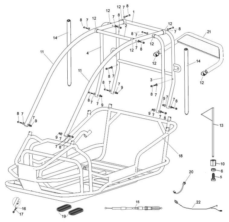 3170partsmanual_pict1 american sportworks model 3170 parts breakdown go kart diagram at alyssarenee.co