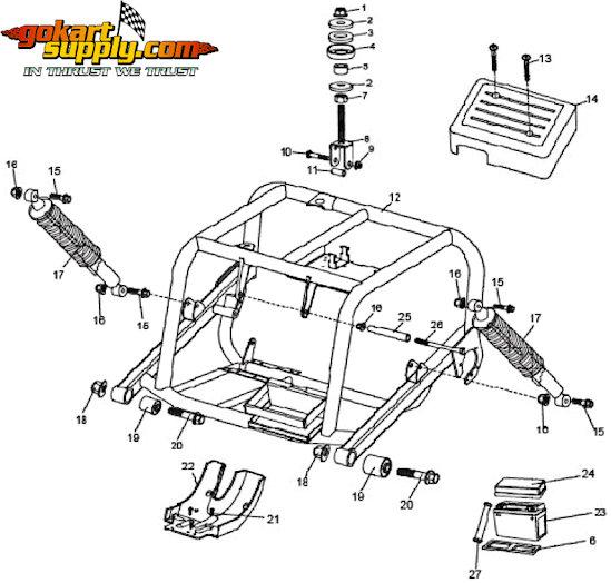 American Sportworks 6150 Go Kart Parts | 6150L Helix, 6150L