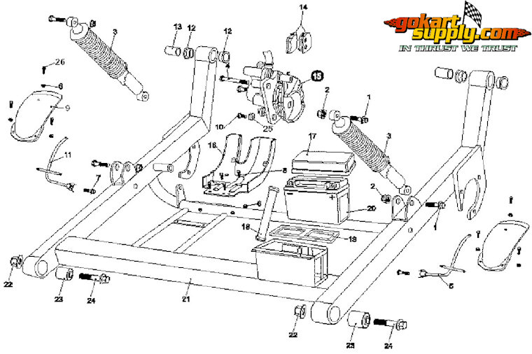 7150 Rear Swingarm - Lower