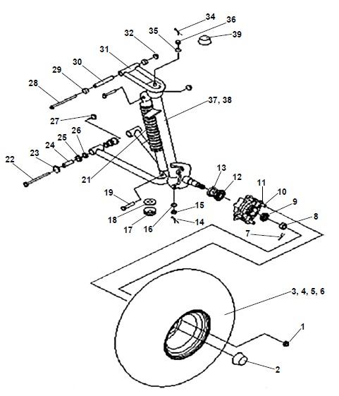 American Sportworks 7151 Carbide Go Kart Parts
