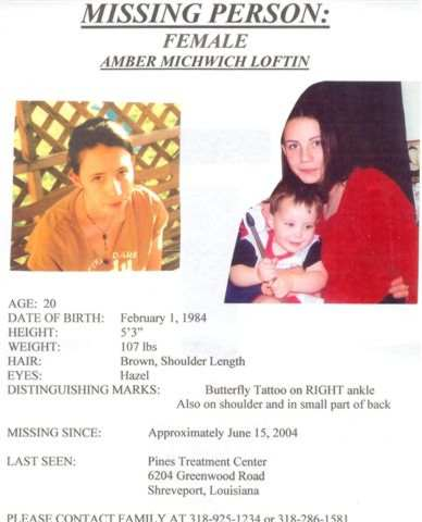 Missing Person Flyer Amber Loftin