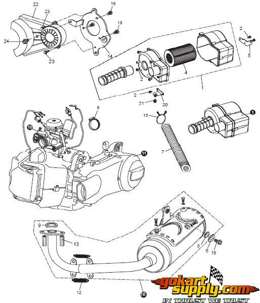 American Sportworks 6150 Go Kart Parts   6150L Helix, 6150L ... on mantis hornet, models of fox hornet, vespa hornet, norton hornet, parker hornet, carter hornet,