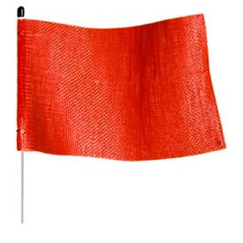 Orange Mesh Flags